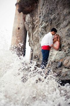 Disney Little Mermaid Themed Engagement Picture.     Love this so much!