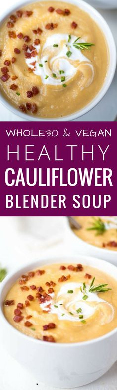 Whole30 cauliflower soup recipes here. Vegan and paleo creamy cauliflower soup. This cauliflower soup recipe is gluten free, dairy free, low carb, paleo, whole30 and vegan! Find quick and easy cauliflower soup recipes here. Whole 30 cauliflower soup. The best whole30 recipes for your meal plan. Easy whole30 dinner recipes. Whole30 recipes. Whole30 lunch. Whole30 recipes just for you. Whole30 meal planning. Whole30 meal prep. Healthy paleo meals. Healthy whole30 recipes. Easy whole30 recipes…