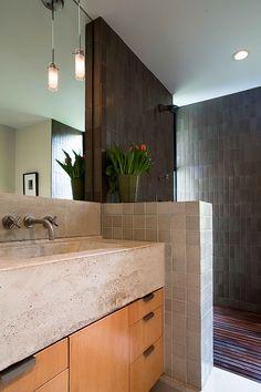 """Heath tiles in shower, """"Eucalyptus"""""""