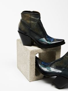 Impartial Lust For Life Casablanca Stud Bootie Black Suede Pointed Toe Metal Detail Boot Wide Selection; Boots