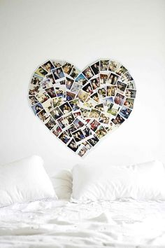 Lovely wall art: heart picture arrangement