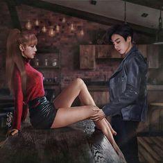 lo siento si no te gusta el liskook Jungkook School, Bts Jungkook, Jimin Fanart, Kpop Fanart, Bts Girlfriends, Kpop Couples, Bts Beautiful, Korean Couple, Painting Of Girl