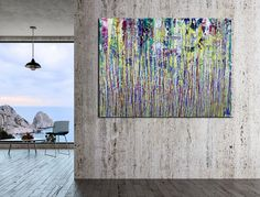 Room View - A Nighttime Carnival (A Closer Look) by Nestor Toro Paintings I Love, Original Paintings, Abstract Painters, Abstract Art, La Art, The Other Art Fair, Art Corner, Painting Edges, Large Painting