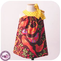 Pink Dress 12m to 8y Pdf Pattern and Instructions by SoTeiTei, $6.90