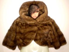QUALITY REAL MINK VTG SPREI FRERES of NEW YORK SMALL PETITE BOLERO JACKET HONEY BROWN  This is a classy mink bolero jacket for all occasions. Made by a once world renowned mink furrier. The seams have been professionally redone. The seals of the furrier are in the inside pelt. A very nice coat for the money. I think you will love it. www.stores.ebay.com/bargainbarge SOLD!!