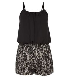 Agenda Black Lace 2-in-1 Playsuit
