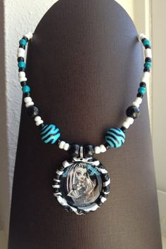 FrankieStein Monster High BottleCap Necklace, make for the loot bags