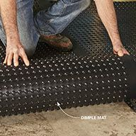 19 Tips for Finishing Basements Install Drainage Mats for a Warmer, Drier Floor - 14 Basement Finishing Tips: www. Wet Basement, Basement Windows, Basement House, Basement Bedrooms, Basement Bathroom, Basement Finishing, Basement Ideas, Basement Apartment, Basement Designs