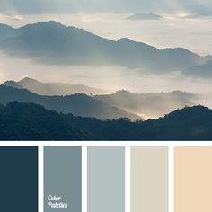 blue color, color of asphalt, design palettes, fog color, fog color in the mountains, gray, gray-orange, orange color, palettes and colors matching, shades of blue, shades of gray, shades of sunset.