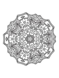 Strange Mandala Forming A Star With Vegetal Patterns From The