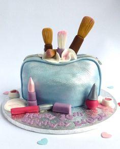 Satin make-up bag cake by Karen's cakes.