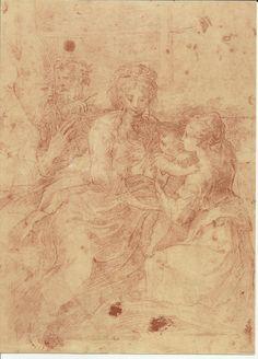 FRANCESCO MAZZOLA detto il Parmigianino - La Madonna col Bambino e Santi.