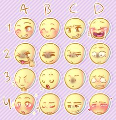 """lalnerd: """"my very own expression meme! tried to go for expressions that might not be all too common but some are kinda common i think dfhf just send a character + expression and ill draw it! Drawing Reference Poses, Drawing Poses, Art Drawings Sketches, Cute Drawings, Facial Expressions Drawing, Drawing Meme, Expression Sheet, Art Prompts, Art Base"""
