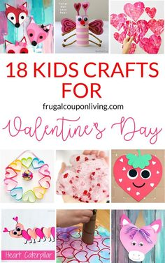 18 Super Cute DIY Valentine Crafts for Kids From classroom activities to handmade Valentines to play at home kids will love to make these 18 super cute DIY craft projects. Each of these Valentine crafts is easy enough for most ages to enjoy making. Diy Craft Projects, Valentine's Day Crafts For Kids, Valentine Crafts For Kids, Holiday Crafts, Diy Valentine, Homemade Valentines, Craft Ideas, Crafts At Home, Fall Crafts