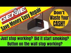 Why Isn T My Genie Garage Door Opener Not Working Youtube Garage Door Opener Garage Door Opener Repair Garage Doors