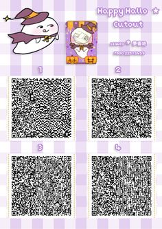 ACNL QR CODE-Halloween Ghost Standee