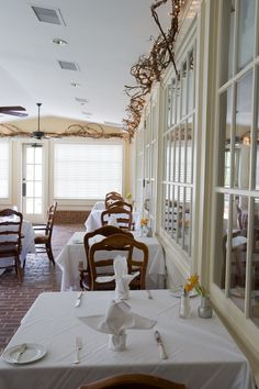 Choose between the main dining area, the Lily Room, Rose Room or as pictured here, the Sun Porch perfect for sunny days!