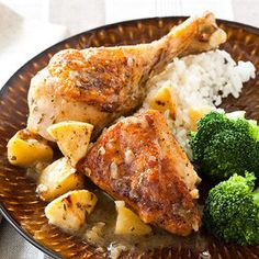 Cider braised chicken.  I made this and it's worthy of making again.  Very good!