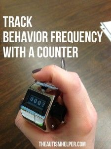 Use a Counter to Count High Frequency Behaviors for Children with Autism by theautismhelper.com