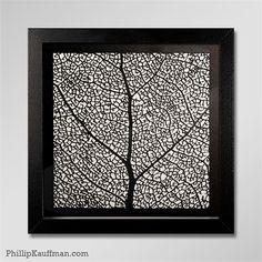 Leaf Skeleton laser-cut art print by Phillip Kauffman