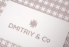 branding for textile and furniture house dmitriy. inspired by their belgian heritage. by marque.