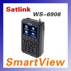 10 шт. Оригинал Satlink WS-6908 3.5 LCD DVB-S FTA Цифровой Спутниковый Сигнал ws 6908 satellite Finder Метр бесплатная доставка
