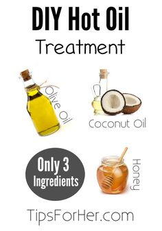 This home done hot oil treatment is perfect for growing your hair long and keeping it strong. Really simple and you only need 3 ingredients! Ingredients: 3 tbsp. Coconut Oil 2 tbsp. Olive Oil 1 tbs…