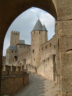 walled city of Carcassonne in the south of France -- another of our honeymoon stops. I wish I could remember the name of the restaurant where we had delicious cassoulet on two nights.