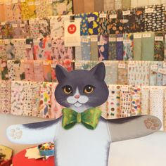 Wrapping paper wall & Cat cuddle cards. Gift Store, Cuddle, Wrapping, Wraps, Stationery, Kids Rugs, Wallpaper, Creative, Gifts