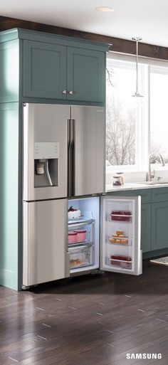 No ice cream sundae is complete without a little love from the 4-Door Flex refrigerator. Its fourth door offers four optimal temperatures— including one that's ideal for ice cream. So you can kiss the freezer burn goodbye and keep your chocolate mint chip just soft enough for scooping. How refreshing.