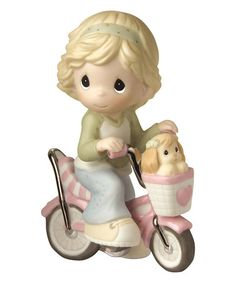 Another great find on #zulily! Puppy On Bicycle Figurine #zulilyfinds