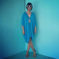 97 degrees means it's Caftan Friday at Trina Turk HQ!