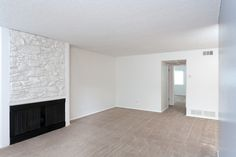 Stone fireplaces at COUNTRYWOOD APARTMENTS IN REDLANDS, CA  #AMCLiving #LiveHappy #ApartmentIdeas #ApartmentsDecor #Apartmentliving #home #dreamhome #renovate #renovations