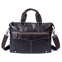 9cc3da1340a Men Shoulder Bags Laptop Messenger Bag Men Leather Handbag Totes Casual  Crossbody Bags for Man Genuine Leather Bag Male
