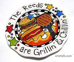 CUSTOM+13++BBQ+Family++Platter+Personalized+great+for+by+artzfolk,+$50.00