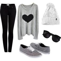 A casual outfit for a cold day. find more women fashion ideas on www.misspool.com