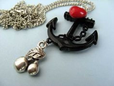 Anchor & Cherries Necklace from www.tizzalicious.com