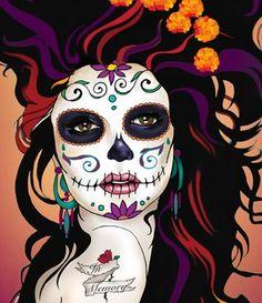 purple dia girl: