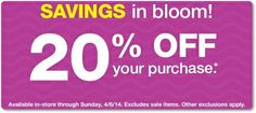 check your email for a possible 20% off coupon from cvs!  http://www.iheartcvs.com/2014/04/off-coupons-issued-to-some-customers.html