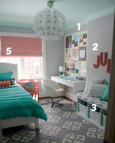 a few things I like - board, giant letters, gray tones, no-sew shade, and kinda-like the chandelier