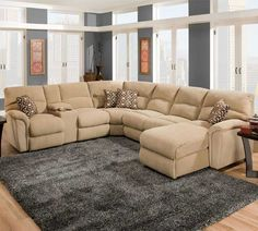 Huge Cozy Sectional Couch 4 6 People Lane Furniture