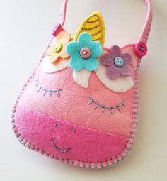 felt toy Felt Toy Unicorn S - toys Felt Pouch, Felt Purse, Pouch Bag, Bear Felt, Felt Finger Puppets, Sock Puppets, Diy Bags Purses, Pouch Pattern, Sewing Projects For Kids