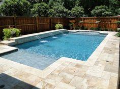 Lovely Travertine Pool Decking #1 Travertine Pool Deck