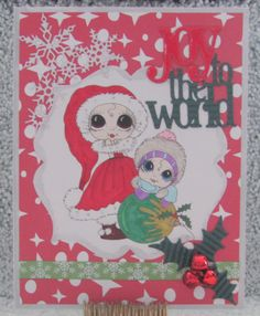 I just listed Joy To The World Christmas Card A7 cutesy jolly greeting card on The CraftStar @TheCraftStar #uniquegifts