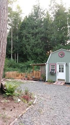 Sweet story & pics. Elderly lady converting shed of 192 sq. ft. tiny home.