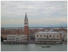 vista aérea do Campanario e Palazzo Ducale, Veneza