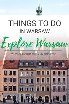 Warsaw is a fascinating city with plenty to see and do. Our guide shows you some of the best places to visit on your trip. Stuff To Do, Things To Do, Poland Travel, Warsaw Poland, Countries To Visit, Weekend Breaks, European Destination, Cool Places To Visit, Adventure Travel