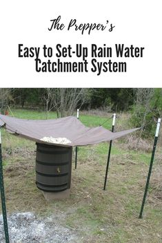 The Prepper's Easy to Set-Up Rain Water Catchment System. (Water storage, Homesteading, Preppers, Survival.)