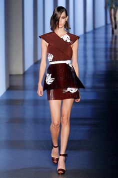 #Trend: Asian Inspired, Mugler    View the full Spring Fashion 2013 Guide here: http://www.fashionmagazine.com/blogs/spring-fashion-2013/