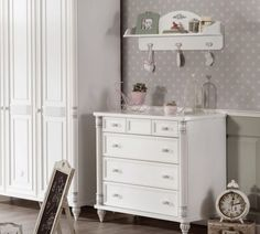Girl Room, Baby Room, Dresser As Nightstand, Kidsroom, Drawers, Vanity, Romantic, Interior Design, Inspiration